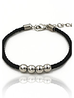 Men's Women's Chain Bracelet Bracelet Basic DIY Alloy Circle Round Jewelry For Daily Casual