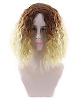Femme Sans bonnet Court Très Frisé Bouclé Blond Cheveux Colorés Perruque Naturelle Perruque de fête Perruque Halloween Perruque