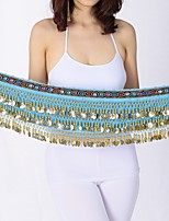 Belly Dance Hip Scarves Women's Performance Velvet Chiffon Paillette Hip Scarf