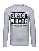 Sweatshirt Homme Sports Vacances Décontracté / Quotidien Imprimé énorme Col Arrondi Micro-élastique Coton Polyester Manches longues