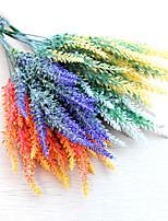 1Bunch Artificial flowers PE lavender 3color 35cm 5Fork Bride wrist flower