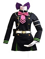 Inspired by Seraph of the End Cosplay Anime Cosplay Costumes Cosplay Suits Vintage Cartoon Long Sleeves Cravat Dresses Belt Headwear For