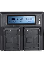 andoer lp-e17 cargador de batería de cámara digital de dos canales para canon 750d / 760d rebel t6i / t6s eos m3 / m5 / m6 / 800d / 77d
