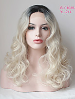Uniwigs Women Synthetic Wig Lace Front Medium Length Wavy Golden Blonde Natural Wigs Costume Wig