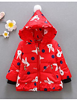 Girls' Print Down & Cotton Padded,Others Winter Long Sleeve