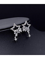 Women's Stud Earrings Bling Bling Simple Style Rhinestone Alloy Star Jewelry For Wedding Party