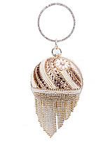 Damen Taschen Ganzjährig Polyester Abendtasche Perlenstickerei Perlen Verzierung für Hochzeit Veranstaltung / Fest Gold