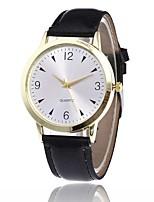 Women's Fashion Watch Casual Watch Quartz PU Band Black White Brown