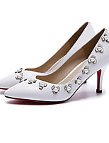 Women's Shoes Nappa Leather Spring Fall Basic Pump Heels For Casual White Black Pink