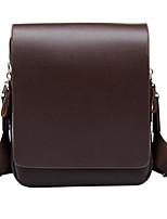 Men Bags PU Crossbody Bag Zipper for Casual All Seasons Brown