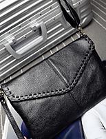 Women Bags Cowhide Shoulder Bag Zipper for Casual All Seasons Black
