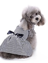 Cat Dog Coat Tuxedo Dress Dog Clothes Party Casual/Daily Wedding Christmas Stripe Stripe