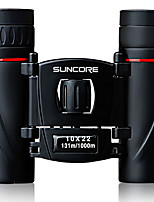 SUNCORE® 10X22 Binoculars Portable Adjustable Easy Carrying Lightweight Travel Size BAK7 Multi-coated 131/1000 Central Focusing