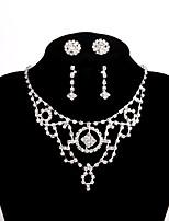 Жен. Ожерелья-цепочки Стразы Сплав Классический Бижутерия Назначение Свадьба Для вечеринок Обручение