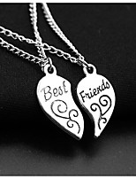 Women's Pendant Necklaces Heart Alloy Friendship Jewelry For Birthday Gift