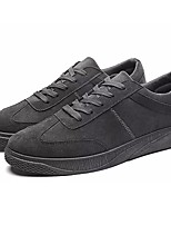 Men's Shoes PU Fall Winter Comfort Sneakers Walking Shoes Lace-up For Casual Office & Career Gray Black White