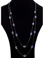 Femme Colliers/Sautoir Collier multi rangs Améthyste synthétique Forme Ovale Alliage Bijoux Pour Soirée Quotidien
