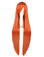 Women Synthetic Wig Capless Very Long Kinky Straight Orange Anime Cosplay Wig Costume Wig