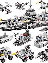 DIY KIT Building Blocks Boat Toys Warship Aircraft Military DIY Classic New Design Boys Girls Pieces