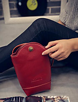 Women Bags All Seasons PU Shoulder Bag Buttons for Black Red Yellow Army Green