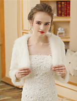 Faux Fur Wedding Party / Evening Women's Wrap With Fur Shrugs