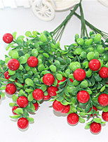 34cm 3 Pcs 15 cherry/pc Home Decoration Artificial Plants Fruit Red Cherry