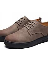 Masculino sapatos Couro Primavera Outono Conforto Oxfords Cadarço Para Casual Preto Marron