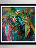 Floral/Botânico Paisagem Quadros Emoldurados Conjunto Emoldurado Arte de Parede,PVC Material com frame For Decoração para casa Arte