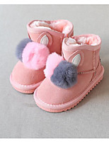 Girls' Shoes Leatherette Fall Winter Fluff Lining Snow Boots Boots For Casual Blushing Pink Gray Black