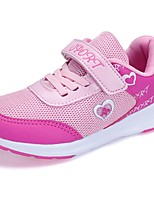 Girls' Shoes Breathable Mesh Spring Fall Comfort Athletic Shoes Walking Shoes Magic Tape For Athletic Purple Fuchsia