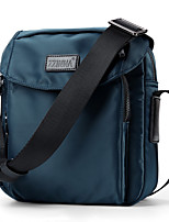 Men Bags Canvas Shoulder Bag Zipper for Casual Outdoor All Seasons Blue Black Dark Blue