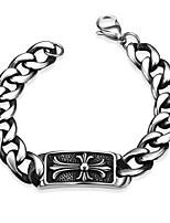Men's Bangles Bracelet Punk Hip-Hop Stainless Steel Copper Geometric Irregular Jewelry For Halloween Street