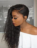 Women Human Hair Lace Wig Burmese Human Hair Glueless Full Lace 150% Density With Baby Hair Natural Wave Wig Black Long Natural Hairline