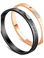 Men's Women's Bangles AAA Cubic Zirconia Love Heart Stainless Steel Zircon Heart Jewelry For Wedding Engagement
