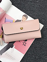 Women Bags PU Wallet Buttons for Casual All Seasons Black Red Blushing Pink Light Purple Brown