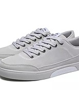 Men's Shoes PU Fall Winter Comfort Sneakers Walking Shoes Lace-up For Casual Office & Career Blue Gray Black