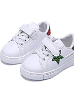 Girls' Shoes PU Fall Winter Comfort Sneakers For Casual Blue Red