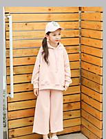 Girls' Solid Clothing Set,Cotton Fall Black Blushing Pink