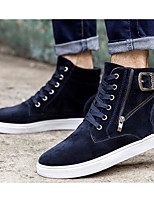 Men's Shoes PU Spring Fall Light Soles Sneakers For Casual Blue Yellow Black