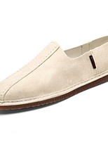 Men's Shoes PU Fall Winter Comfort Loafers & Slip-Ons For Casual Gray Beige Black