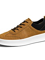 Men's Shoes PU Spring Fall Comfort Sneakers For Casual Black Brown
