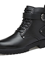 Mujer Zapatos Cuero de Napa Otoño Invierno Botas de Combate Botas de Moda Botas hasta el Tobillo Botas Tacón Robusto Botines/Hasta el