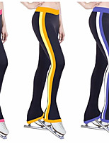 Over The Boot Figure Skating Tights Women's Girls' Ice Skating Dress Yellow Red Blue Stretchy Stripe Performance Practise Stretchy