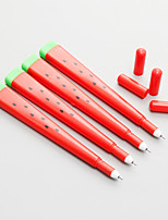 12 PCS Watermelon Silicone Black Ink Gel Pen