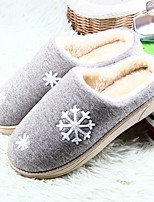 Women's Shoes PU Fall Winter Fur Lining Fluff Lining Comfort Slippers & Flip-Flops Flat Heel Closed Toe For Casual Blushing Pink Blue