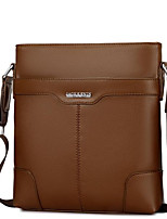 Men Bags All Seasons Other Leather Type Briefcase Zipper for Casual Black Dark Brown Khaki