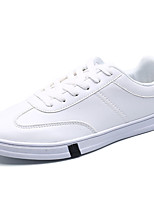Men's Shoes Synthetic Microfiber PU Spring Fall Comfort Sneakers Lace-up For Outdoor Black White