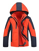 Men's Hiking 3-in-1 Jackets Outdoor Winter Windproof 3-in-1 Jacket Top Full Length Visible Zipper Camping / Hiking Cycling Climbing