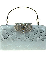 Women Bags All Seasons leatherette Evening Bag Crystal Detailing Pattern / Print for Wedding Event/Party Formal Blue Silver Wine