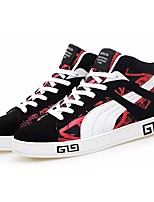 Men's Shoes Fabric Spring Fall Comfort Sneakers Lace-up For Casual Black/Red Black/White